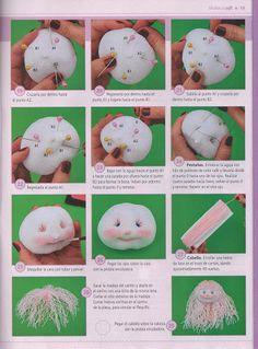 Ideas que mejoran tu vida Sock Crafts, Felt Crafts, Diy And Crafts, Sock Dolls, Baby Dolls, Waldorf Toys, Soft Sculpture, Diy Doll, Doll Face
