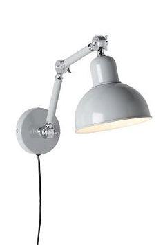 i lackad metall med ställbar arm, 63 cm från vägg. Modern Lighting Design, Modern Design, Grey Walls, Lamp Light, Light Fixtures, Home Accessories, Wall Lights, Home Decor, Lightning