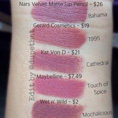 Image result for Nars velvet matte lip pencil in Bahama dupe