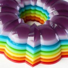 Jello Shot Cake - Lynn, next time your husband wants rainbow jello, make him this!