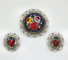Murano MicroMosaic Demiparure Jewelry Micro Mosaic by KickassStyle, $38.00