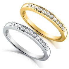 Round-cut Diamond Band 1/10 Carat ctw in 14k Gold 11 by DiamondMe