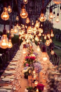Hanging Bulbs, Amazing Idea !!