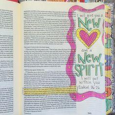 Bible journaling Bible Study Guide, Bible Study Journal, Art Journaling, Journal Art, Scripture Art, Bible Art, Bible Verses, Ezekiel Bible, Bible Doodling