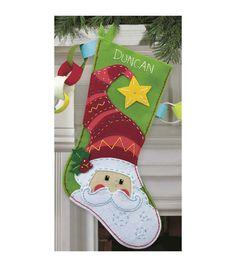 Dimensions Felt Applique Kit Santa Stocking