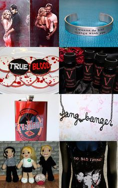 --Pinned with TreasuryPin.com  Awesome True Blood treasury that one of my items from Fat Cat Apparel is featured in!!