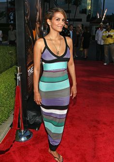 #HalleBerry | #MMissoni Spring Summer 2009 Collection | Multicolor Striped Dress
