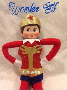 wonder woman elf on the shelf by A Little Moore