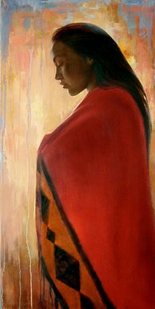"""The honor of the people lies in the moccasin tracks of the women."" —Native American Saying. Artwork by David Joaquin Native American Paintings, Native American Wisdom, Native American Beauty, American Indian Art, Native American Indians, Wow Art, Chant, Indigenous Art, Native Art"