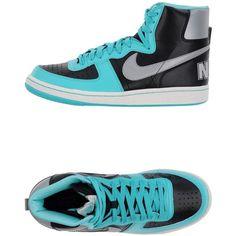 Nike Sneakers ($137) ❤ liked on Polyvore featuring shoes, sneakers, steel grey, nike footwear, multi colored sneakers, colorful shoes, round cap and grey sneakers