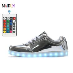 1b55e41ec5dd8 Aliexpress.com   Buy 2017 Mens led dancing shoes Sport USB Charging Step 7  Colorful Shining Shoes Ghost Dance Shoes Lace up LED Breathable Lights from  ...
