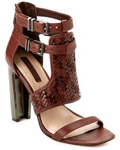 """BCBGMAXAZRIA """"Pixy"""" Leather Sandal is on Rue. Shop it now."""
