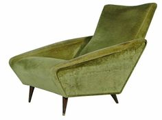 Wow! Look at this gorgeous green chair! | Gio Ponti | Distex | For Cassina 1953