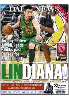 Lindiana! Jeremy Lin, New York Daily News, New York Knicks, Kentucky, Nba, Basketball, My Love, Sports, My Boo