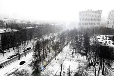 first snow in Msk 2011|2012