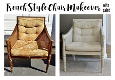 French Style Chair Makeover [with paint]