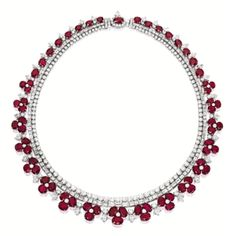 #RUBY AND #DIAMOND 'FLORAL' NECKLACE - Sotheby's