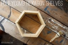 Really detailed and easy to follow tute on how to make . . . . DIY hexagon shelves
