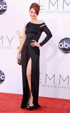 Alexandra Breckenridge arrives at the 64th Primetime Emmy Awards at the Nokia Theatre in Los Angeles on September 23, 2012.