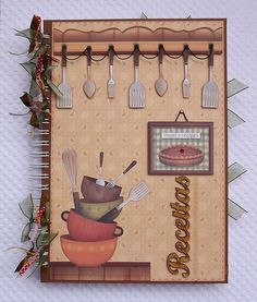 Trending Mother's Day Gifts Guide Mini Album Scrapbook, Scrapbook Recipe Book, Scrapbook Cards, Homemade Recipe Books, Recipe Book Covers, Recipe Book Templates, Sketch Note, Diy And Crafts, Paper Crafts