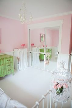Ballet Barre Design Ideas, Pictures, Remodel, and Decor-would work on Chloe's Closet.