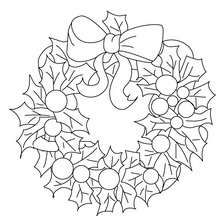 Traditional Christmas wreath coloring page. All CHRISTMAS GARLAND coloring pages, including this Traditional Christmas wreath coloring page are free. Christmas Colors, Christmas Art, Christmas Wreaths, Christmas Ornaments, Christmas Balls, Christmas Ornament Coloring Page, Christmas Coloring Sheets, Mandala Coloring, Colouring Pages