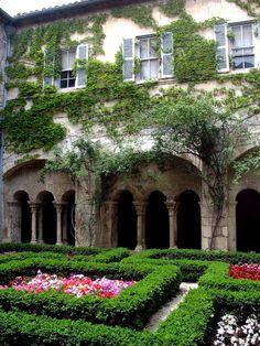 Courtyard, Saint-Paul de Mausole Asylum, St. Remy, France  2012