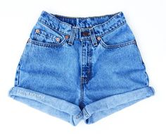 Vintage Levis high waisted denim shorts uniquely styled by Bailey Ray  DESCRIPTION OF PRODUCT Levis jeans or other brand (all vintage) Grade A jeans free of: stains, pocket/crotch holes, torn belt loops, or odors 100% cotton (pre-washed) No need to worry about shrinkage! High waisted, of course 2 back pockets with that highly demanded, classic V stitching (on Levis) Large Levis patch on the back (on Levis) RANDOM WASH (Unless otherwise requested: light, light/medium, medium, medium/dark…