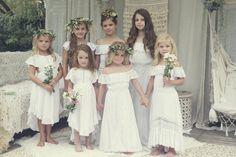 All the junior bridesmaids and the flower girl
