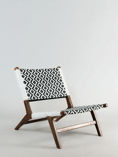 nagarey | Products - Kursi - Gonzalo Lounge Chair - Black White Natural