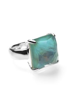 Swooning over this multifaceted semiprecious stone that glimmers from every angle in a statement-making ring.