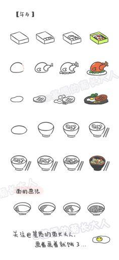 如何画萌萌哒食物---午餐,来自@基质的菊长大人