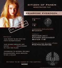 Capitol Files - Primrose Everdeen