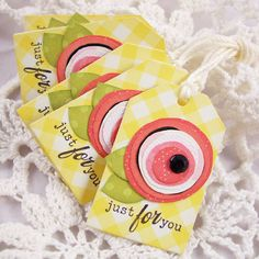 Creative Paper Trail: cutting circles...lovely tags!