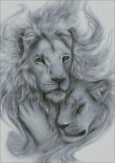 "The innocence of ""LOVE"" comes in all species ! Lion King Art, Lion Art, Pencil Art Drawings, Art Drawings Sketches, Animal Sketches, Animal Drawings, Lion Sketch, Stippling Art, Lion Love"