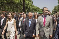 26/05/17 Sus Majestades los Reyes han inaugurado esta mañana la 76ª Feria del Libro de Madrid junto a Marcelo Rebelo de Sousa, presidente de Portugal, que es el país invitado en esta edición.