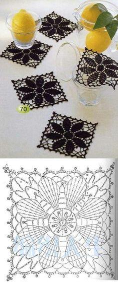 Transcendent Crochet a Solid Granny Square Ideas. Inconceivable Crochet a Solid Granny Square Ideas. Crochet Doily Patterns, Crochet Blocks, Crochet Diagram, Crochet Chart, Crochet Squares, Thread Crochet, Crochet Motif, Crochet Designs, Crochet Doilies