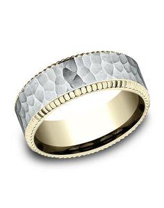 14k Gold Men S Wedding Ring Style Cf188376 By Benchmark Http Trib