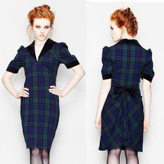 Spin Doctor Aramis Tartan Dress