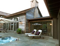 The perfect reclaimed wood color for detached barn