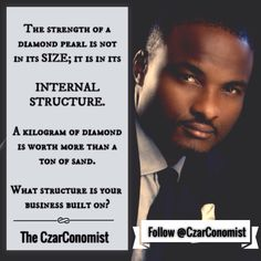 Business sustainability is not hinged on a company's size; it is re-enforced by its internal business structure. #The CzarConomist #TakeTheLeadInStyle For more, visit www.czarconomist.com   #Sales #business #marketing #money #selling #motivation #goals #inspiration #inspirationalquotes #inspire #entrepreneur #entrepreneurship #startup #supportlocalbusinesses #smallbusiness #startuplife #coaching #TheCzarConomist #TakeTheLeadInStyle #consulting #nigeria #lagos #abuja #portharc