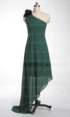One Shoulder Homecoming Dresses High Low Asymmetrical Hem Customized Short Prom Dress
