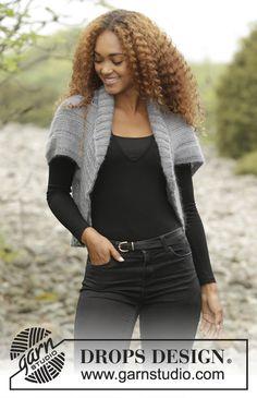 Ravelry: Grey Whisper pattern by DROPS design Shrug Knitting Pattern, Knit Shrug, Knitting Patterns Free, Free Knitting, Knit Cardigan, Free Pattern, Drops Design, Drops Kid Silk, Shrugs And Boleros