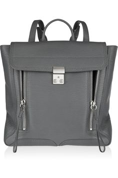 3.1 Phillip Lim|The Pashli textured-leather backpack|NET-A-PORTER.COM