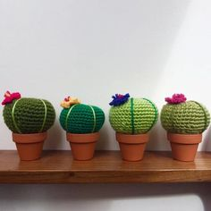 You will love this collection of Crochet Cactus Patterns and we have all the most popular ideas with lots of free patterns and video tutorial included. Crochet Crafts, Crochet Projects, Crochet Ideas, Crochet Granny, Knit Crochet, Crochet Cactus Free Pattern, Textiles, Pin Cushions, Crochet Flowers