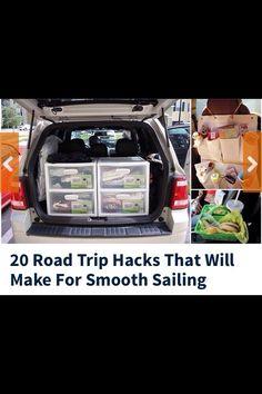 20 Road Trip Hacks That Will Make For Smooth Sailing #Travel #Trusper #Tip