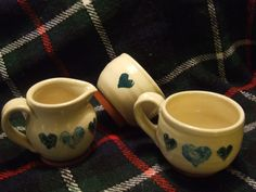 Heart cups and jug