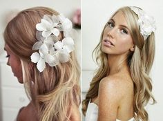 I don't like her hair piece, but look how pretty her hair is! Wedding Hairstyles For Long Hair, Bride Hairstyles, Pretty Hairstyles, Straight Hairstyles, Hairstyle Ideas, Messy Hairstyle, Perfect Hairstyle, Beach Hairstyles, Hairstyle Wedding
