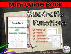 Mini Guide Books are great for Interactive Notebooks or as an addition to your mathematics classroom.  Includes: Ready to print and assemble cover and tabbed pages Directions on how to assemble Two Versions to better assist you meet the needs of all your students (completely filled-in version or guided fill-in) ($)