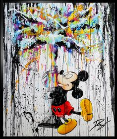 Disney Images, Disney Pictures, Tableau Pop Art, Mickey Mouse Art, Arte Dachshund, Disney Phone Wallpaper, Haikyuu Manga, Acrylic Art, Funny Art